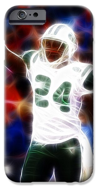 Magical Darrelle Revis iPhone Case by Paul Van Scott