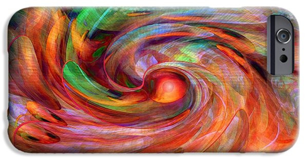 Abstract Expression iPhone Cases - Magical Energy iPhone Case by Linda Sannuti