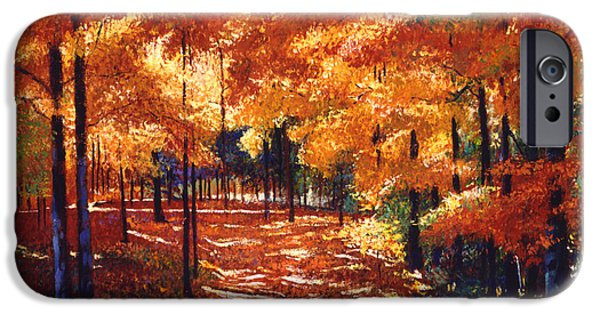 Autumn Road iPhone Cases - Magical Forest iPhone Case by David Lloyd Glover