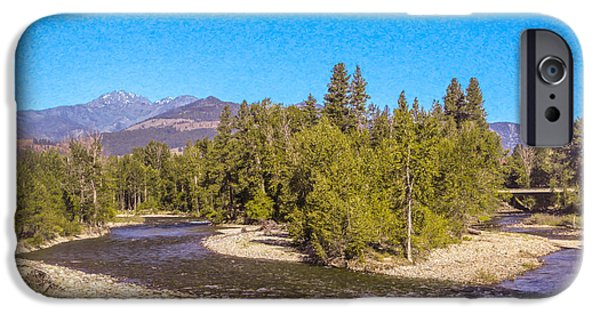 Freedom iPhone Cases - Magical Intersections Methow Valley Landscapes by Omashte iPhone Case by Omaste Witkowski