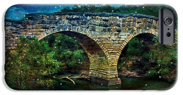 Crows iPhone Cases - Magical Middle Of Nowhere Bridge iPhone Case by Anna Surface