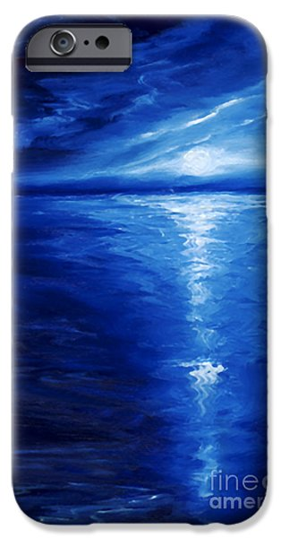 Moonscape iPhone Cases - Magical Moonlight iPhone Case by James Christopher Hill