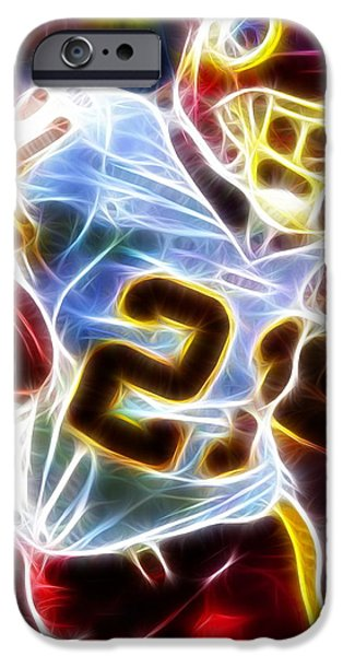 Miami Drawings iPhone Cases - Magical Sean Taylor iPhone Case by Paul Van Scott
