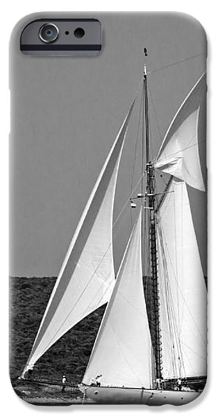 White House iPhone Cases - Magical wings regatta arrives to coastline with full sails open by pedro cardona iPhone Case by Pedro Cardona