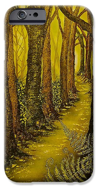 Pathway iPhone Cases - Magique Foret de Lor iPhone Case by Emma Childs