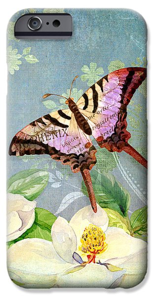 Hand-watercolored iPhone Cases - Magnolia Dreams  iPhone Case by Audrey Jeanne Roberts