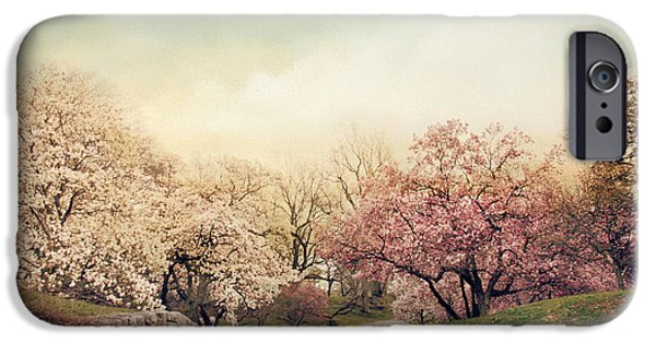Country Lanes iPhone Cases - Magnolia Lane iPhone Case by Jessica Jenney