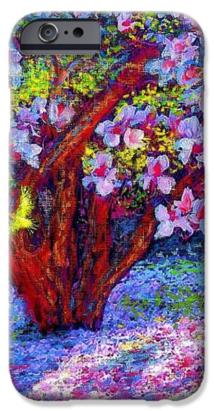 Magnolia Melody iPhone Case by Jane Small