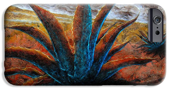 Tree Art Print Mixed Media iPhone Cases - Maguey iPhone Case by Jose Espinoza