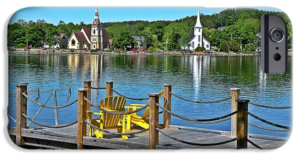 Religious iPhone Cases - Mahone Bay Nova Scotia iPhone Case by Brian Chase