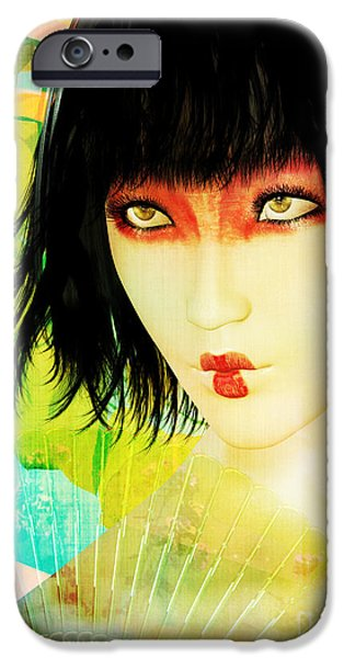 Original Art Mixed Media iPhone Cases - Maiko iPhone Case by Shanina Conway