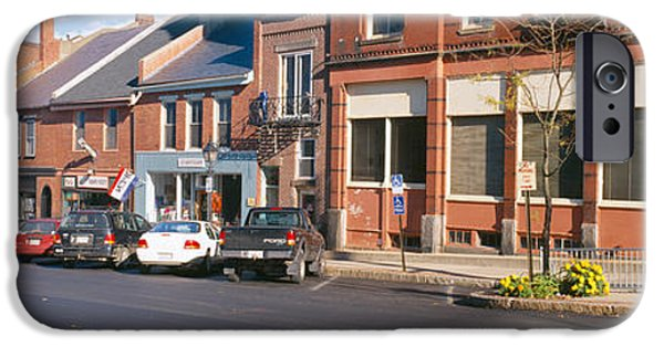 Maine iPhone Cases - Main Street In Belfast, Maine iPhone Case by Panoramic Images