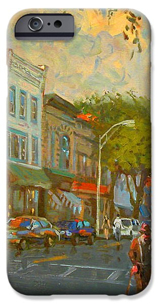 Main Street Nyack NY  iPhone Case by Ylli Haruni