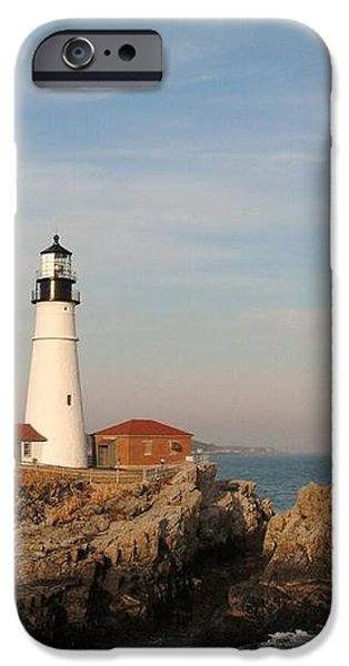 Maine Lighthouse iPhone Case by Alberta Brown Buller