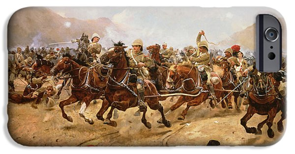 1856 iPhone Cases - Maiwand iPhone Case by Richard Caton II Woodville