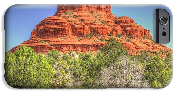 Sedona iPhone Cases - Majestic Bell Rock iPhone Case by John Absher