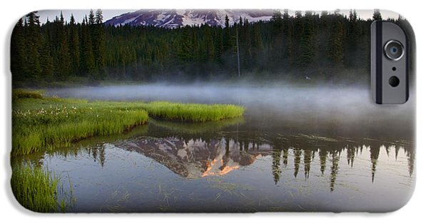 Lake iPhone Cases - Majestic Dawn iPhone Case by Mike  Dawson
