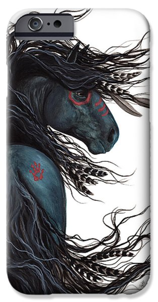 Majestic iPhone Cases - Majestic Horse Friesian 135 iPhone Case by AmyLyn Bihrle