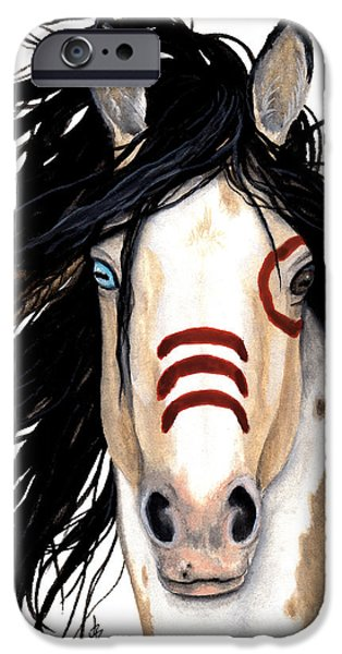 Pinto Paintings iPhone Cases - Majestic Look 136 iPhone Case by AmyLyn Bihrle
