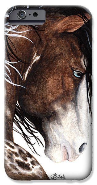Majestic iPhone Cases - Majestic Pinto Horse 140 iPhone Case by AmyLyn Bihrle
