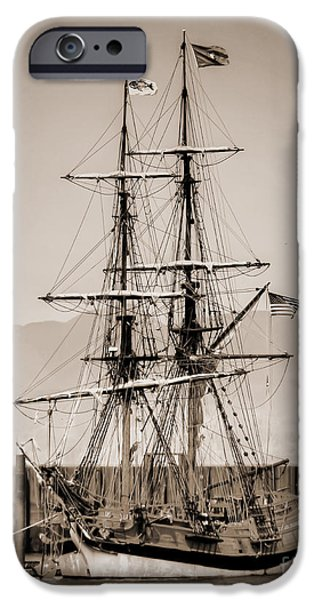 Boat iPhone Cases - Majestic Sailboat iPhone Case by Tina Wentworth