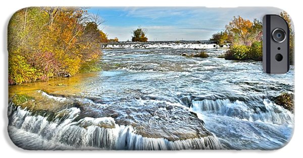 States iPhone Cases - Majestic Waterfall iPhone Case by Frozen in Time Fine Art Photography