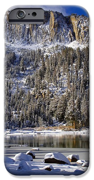 Winter Scene iPhone Cases - Majestically Cool iPhone Case by Chris Brannen