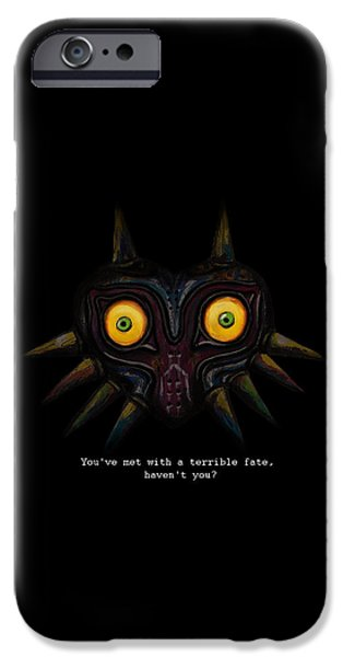 Recently Sold -  - Abstract Digital Art iPhone Cases - Majoras Mask iPhone Case by Ana Djurkovic