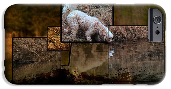 Puppies Digital Art iPhone Cases - Make Your Life Happen iPhone Case by Sandra Clark
