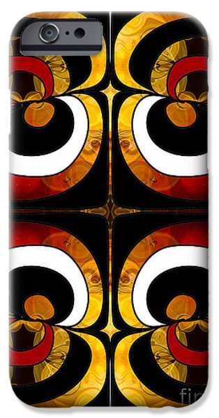 Earth Tones Drawings iPhone Cases - Making Eyes of Abstract Bliss by Omashte iPhone Case by Omaste Witkowski
