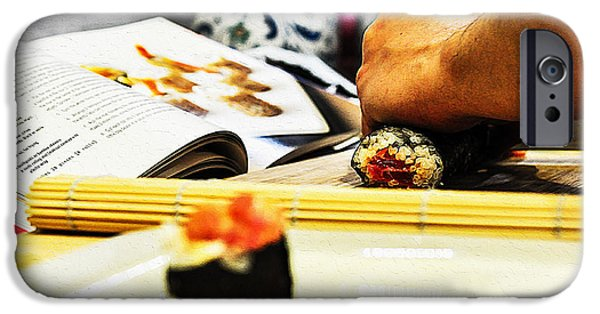 Sheets iPhone Cases - Making sushi iPhone Case by Queso Espinosa