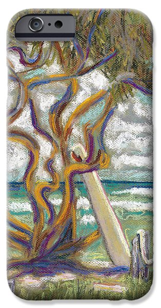 Beach Landscape Pastels iPhone Cases - Malaekahana Tree iPhone Case by Patti Bruce - Printscapes