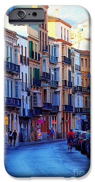 Malaga iPhone Cases - Malaga Evening iPhone Case by Mary Machare