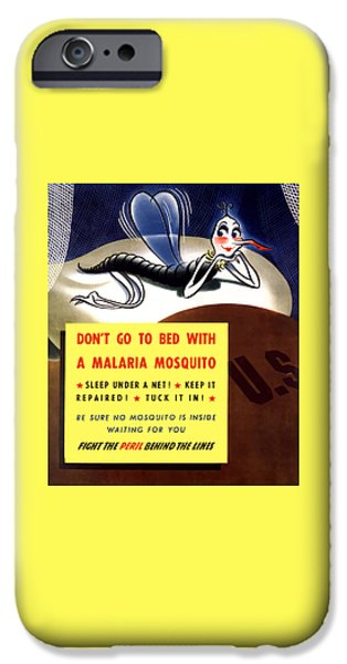 Malaria Mosquito iPhone Case by War Is Hell Store