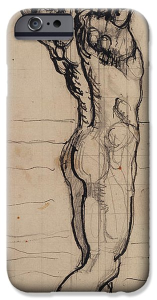 Figure iPhone Cases - Male Act   Study for the Truth iPhone Case by Ferdninand Hodler