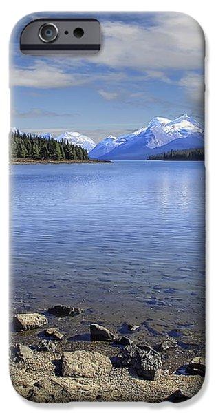 MALIGNE LAKE -- JASPER ALBERTA CANADA iPhone Case by Daniel Hagerman