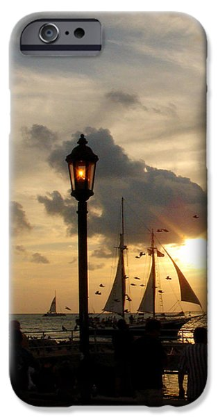 Mallory Square Key West iPhone Case by Susanne Van Hulst