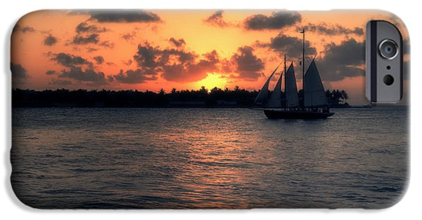 Ocean Sunset iPhone Cases - Mallory Square Sunset - Key West iPhone Case by Kim Hojnacki