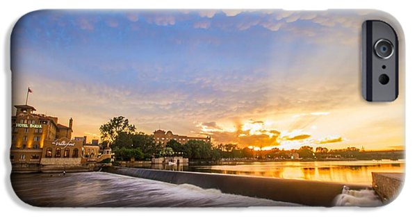 Recently Sold -  - Charles River iPhone Cases - Mammatus Sunset Over Hotel Baker  iPhone Case by Lorraine Mahoney