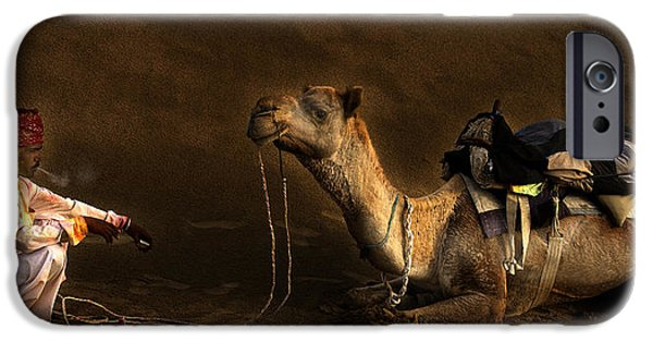 Bonding iPhone Cases - Man camel and Smoke iPhone Case by Rajat Ghosh