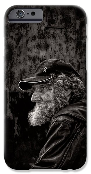 Contemplation iPhone Cases - Man With A Beard iPhone Case by Bob Orsillo