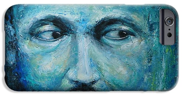 Orator Paintings iPhone Cases - Man with a Dream iPhone Case by Dan Campbell