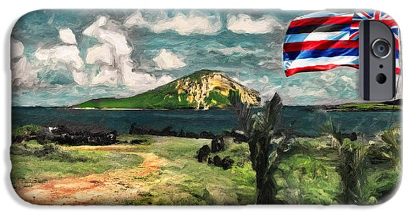 Nation iPhone Cases - Manana Island - Rabbit Island  iPhone Case by Patrick J Gallagher