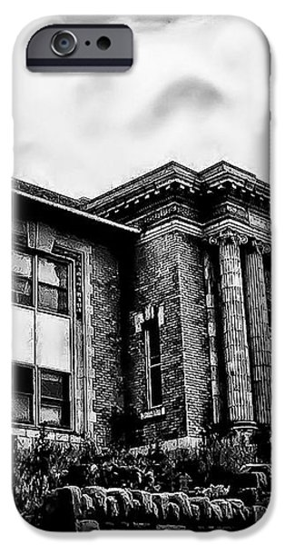 Manayunk Branch of the Free Library of Philadelphia iPhone Case by Bill Cannon