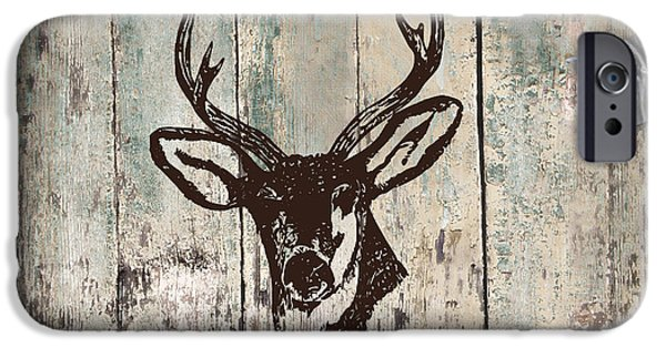 Home Improvement iPhone Cases - Mancave Deer Rack iPhone Case by Mindy Sommers
