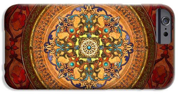 Culture iPhone Cases - Mandala Arabia iPhone Case by Bedros Awak