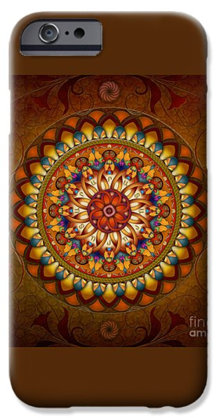 Mandala Ararat iPhone Case by Bedros Awak