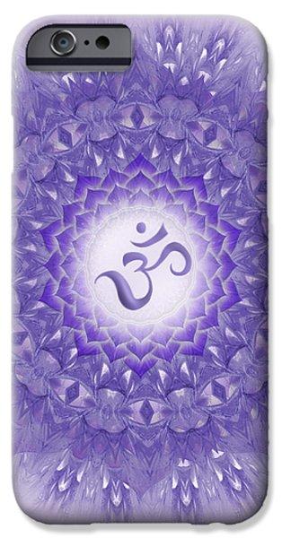Concept Digital Art iPhone Cases - Mandala art - Sahasrara Mandala by RGiada  iPhone Case by Giada Rossi