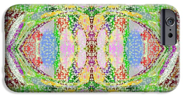 Abstract Digital Tapestries - Textiles iPhone Cases - Mandala Dreamings Two iPhone Case by Suzi Freeman