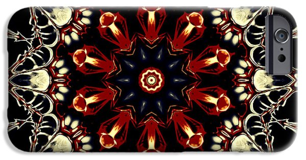 Religious Tapestries - Textiles iPhone Cases - Mandala Flower 2 iPhone Case by Marcus Mattern